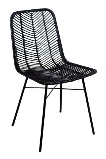 Casares Charcoal Rattan Dining Chair - Special Order